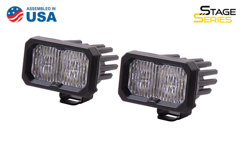Stage Series 2 Inch LED Pod, Sport White Fog Standard ABL Pair