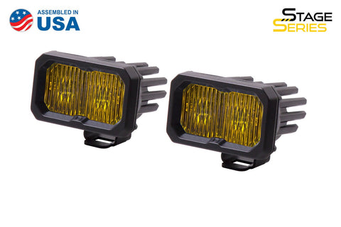 Stage Series 2 Inch LED Pod, Sport Yellow Fog Standard ABL Pair