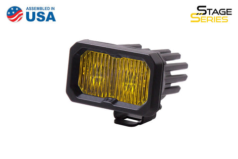 Stage Series 2 Inch LED Pod, Sport Yellow Fog Standard ABL Each