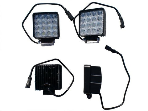 4 Inch LED Work Lights SW Series Square 48 Watt Led Single Flood Light Requires Wiring Harness ENGO