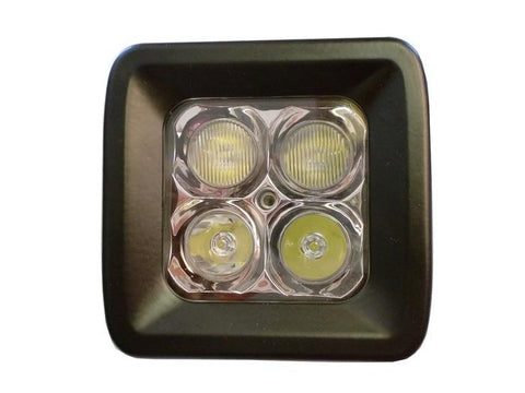 LED Work Light 20 Watt Pair With Harness Cree E2 Flood Pattern ENGO