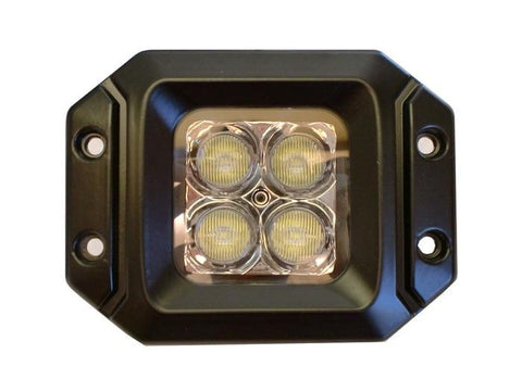 LED Work Light 20 Watt Pair With Harness Cree E2 Flange Mount With Flood Pattern ENGO