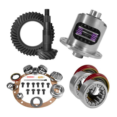 8.5 inch GM 3.73 Rear Ring and Pinion Install Kit 30 Spline Positraction Axle Bearings and Seals Yukon Gear & Axle