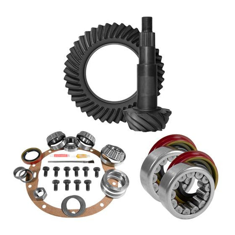 8.5 inch GM 3.73 Rear Ring and Pinion Install Kit Axle Bearings 1.78 inch Case Journal Yukon Gear & Axle