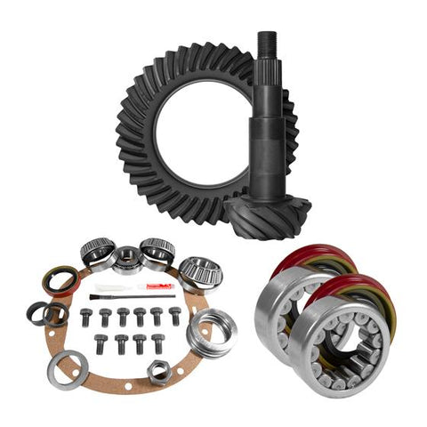 8.5 inch GM 3.73 Rear Ring and Pinion Install Kit Axle Bearings 1.625 inch Case Journal Yukon Gear & Axle