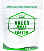 Naturally Kratom Green Malay - 4 OZ powder | Pain Management Herb