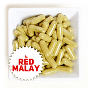 RED MALAY Natural Kratom Capsules | Organic | Fresh | Non-GMO