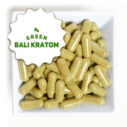 Natural green bali Kratom capsules