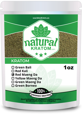 1OZ Red Maend Da Natural Kratom Powder - promiseland herbs