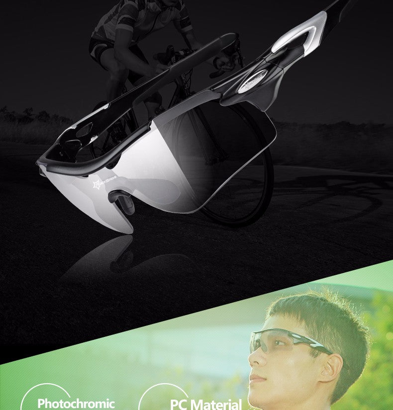 ROCKBROS  Polarized Sport Sunglasses with Photochromic for all Outdoor Activities.