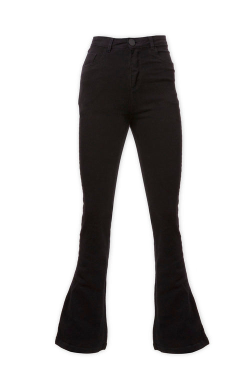 Pantalón Flare Denim Black