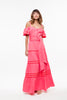 Vestido Largo Off The Shoulder Coral Pink