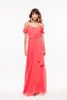 Vestido Largo Off The Shoulder Pink Tela Suave