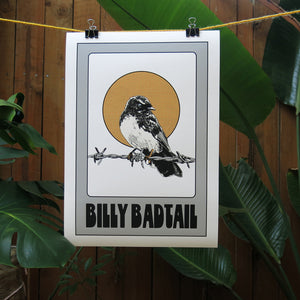 Billy Badtail A3 Print