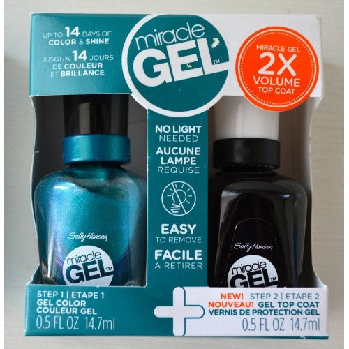 Sally Hansen Miracle Gel Duo Pack Gel and Top Coat 540 Combustealable - pack of 4