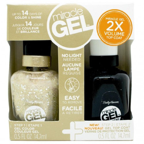 Sally Hansen Miracle Gel Duo Pack Gel and Top Coat 580 For The Thrill - pack of 4