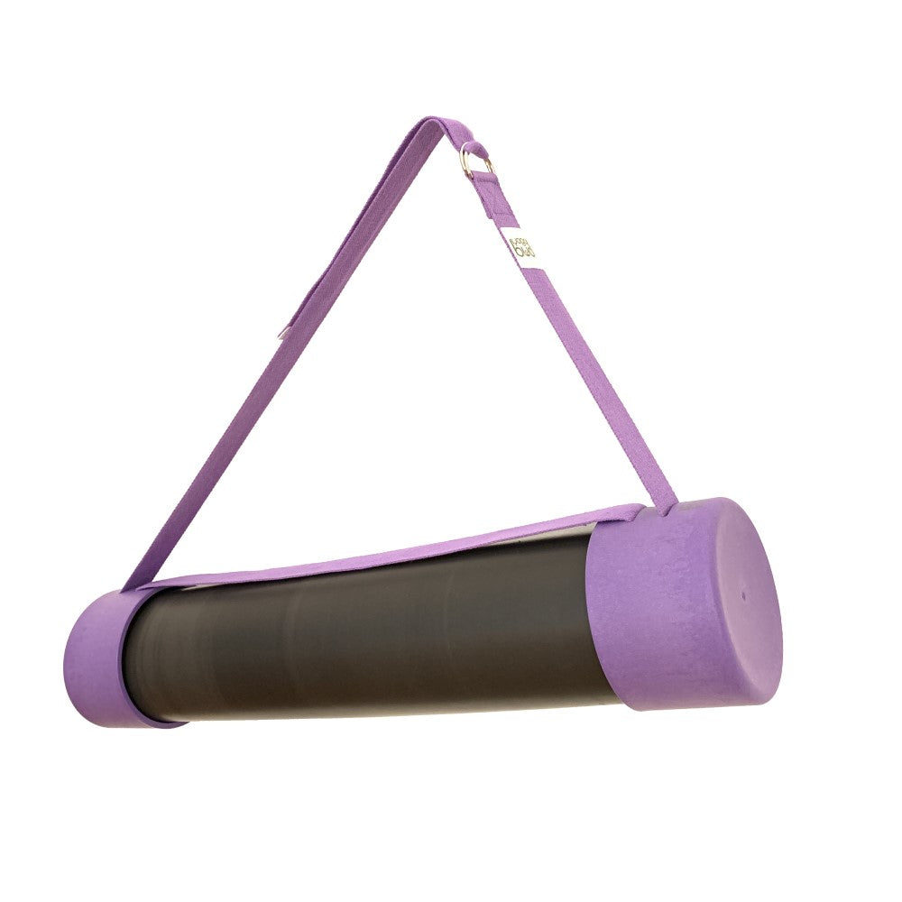 Purple Yoga Budi mat holder, strap and yoga blocks