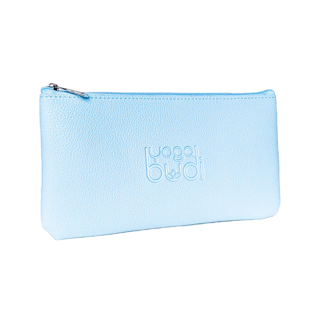 blue yoga purse for yoga strap