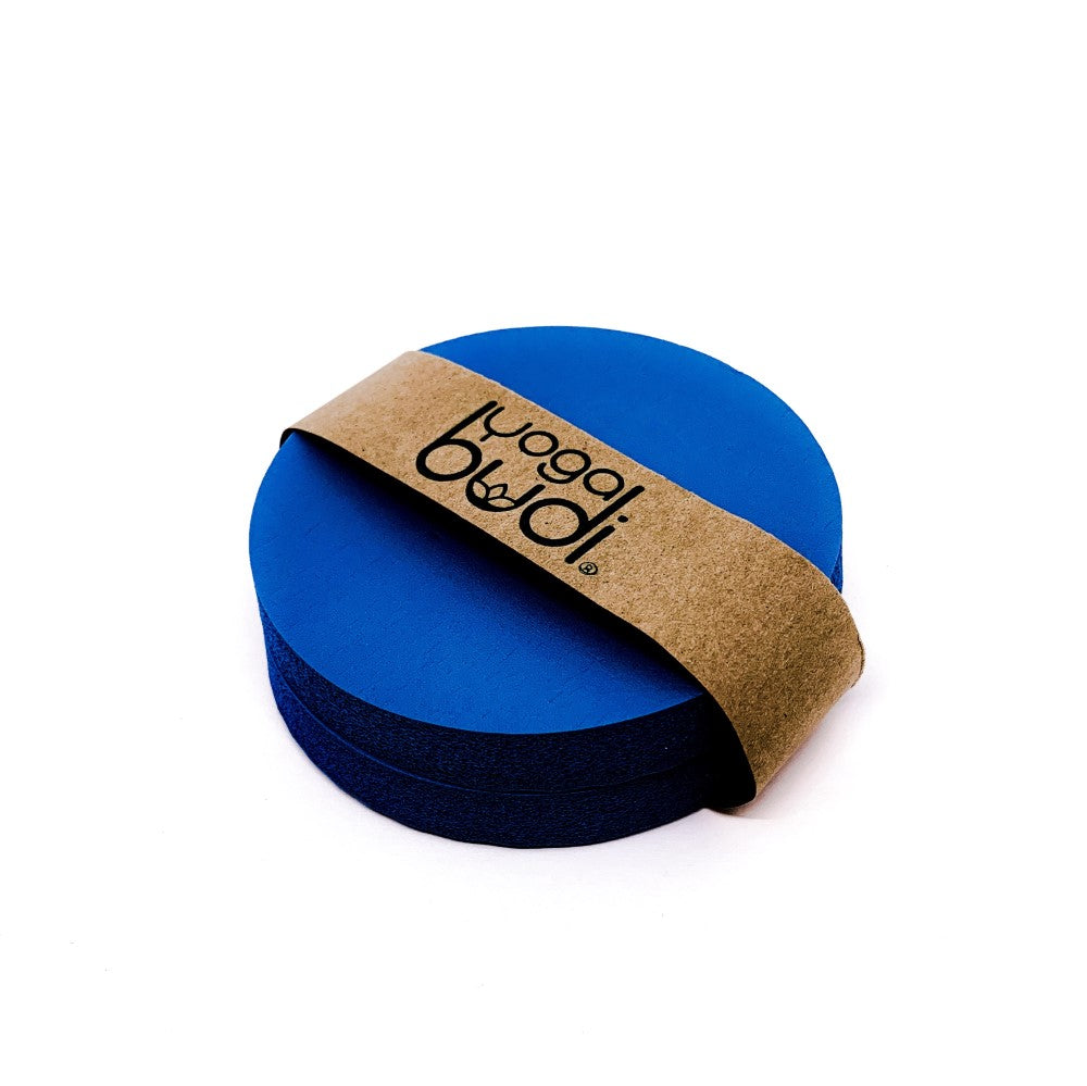 Blue knee and elbow yoga pad