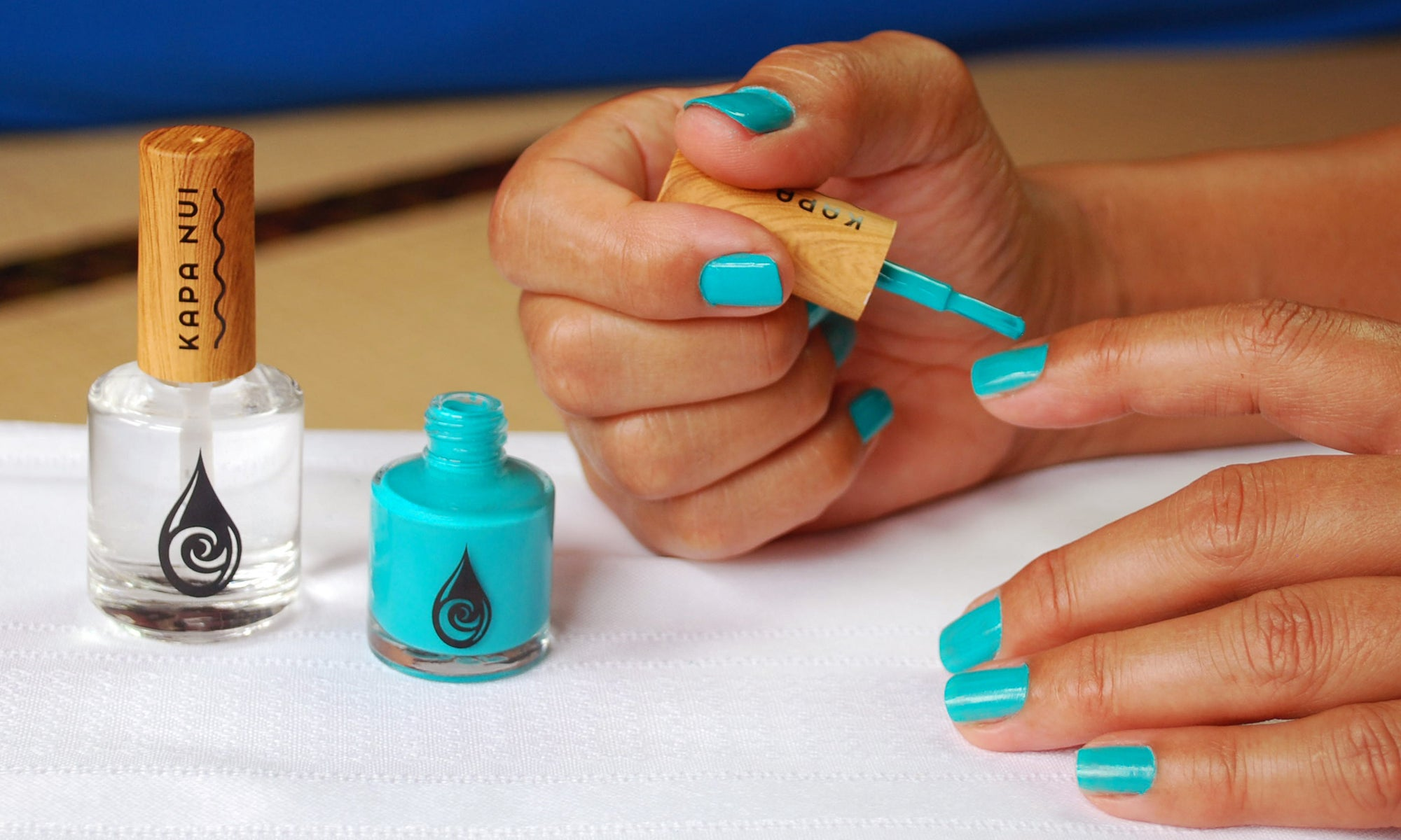 Kapa Nui Nails Non-toxic Nail polish application Video