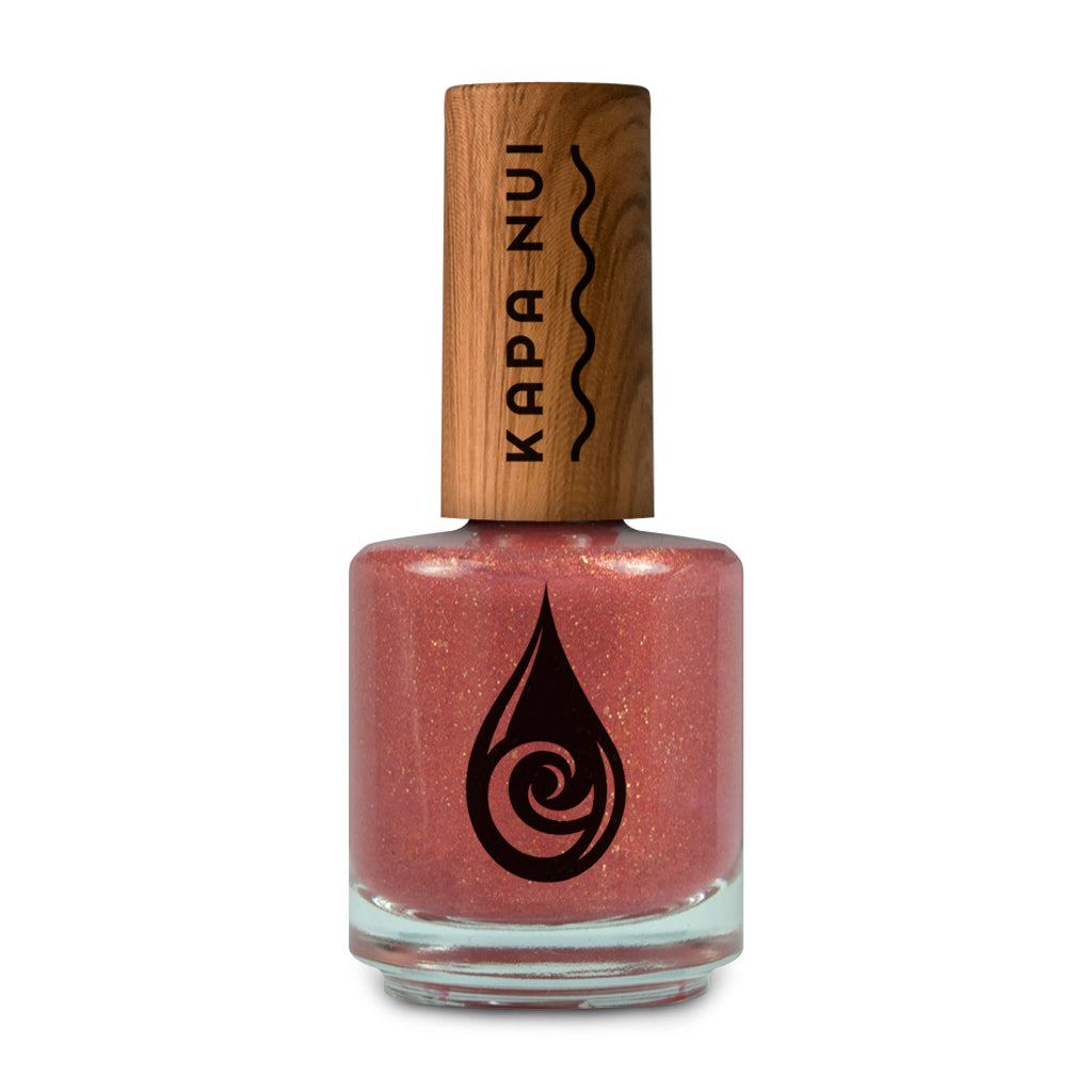Blushing Sun toxin-free nail polish color in a 15ml bottle