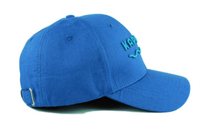 Hemp baseball cap hat branded Kapa Nui side view