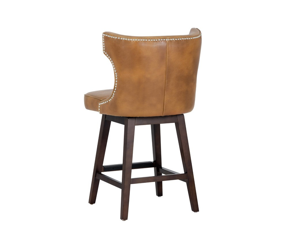 Neville Swivel Counter Stool - Tobacco