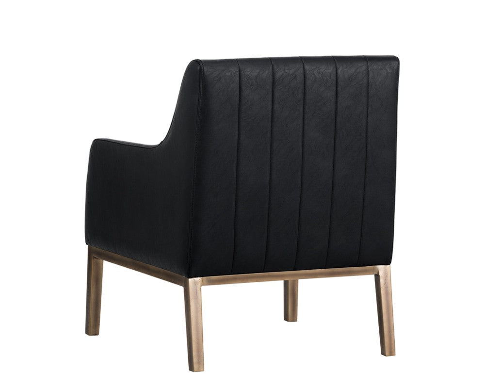 Wolfe Lounge Chair - Black