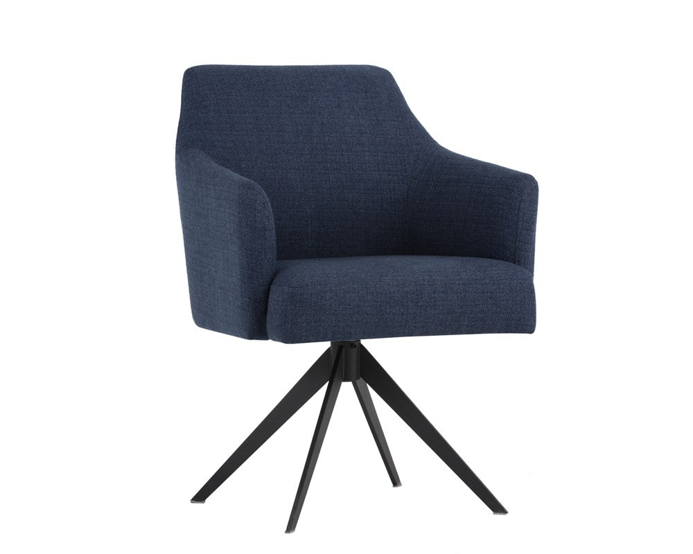 Sydney Swivel Chair - Blue
