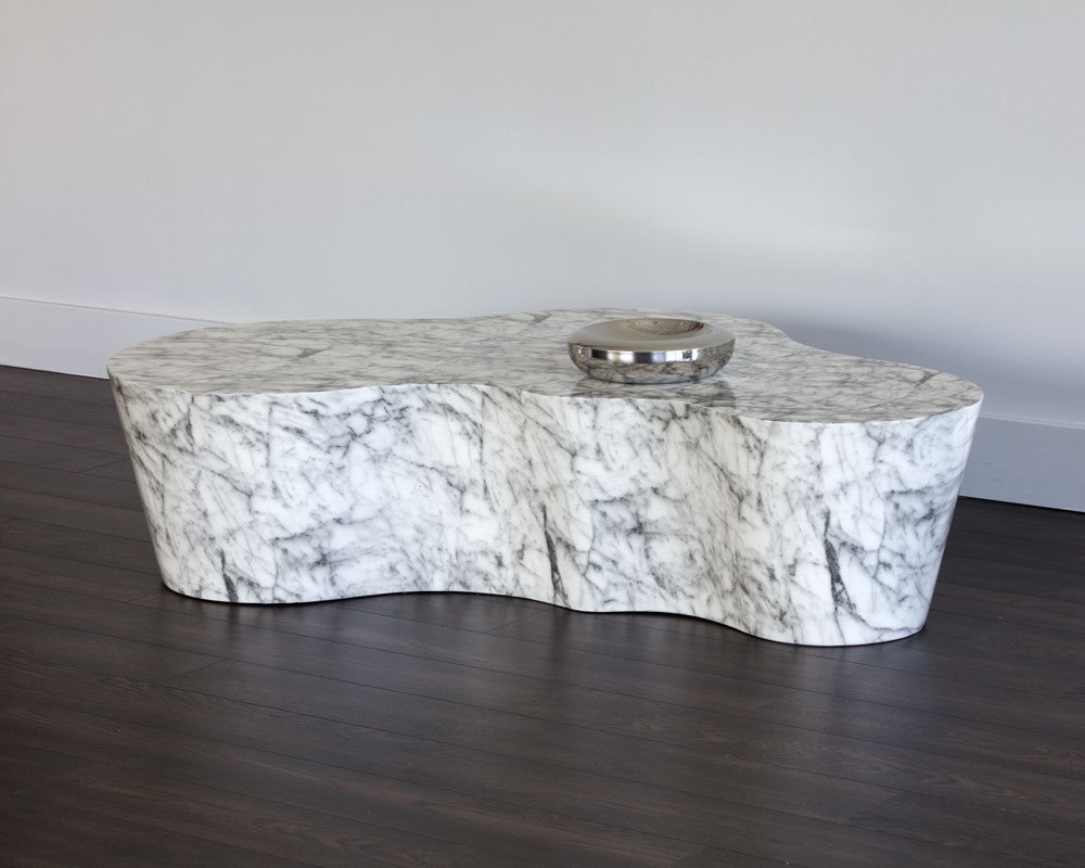 Ava Coffee Table  Marble Look