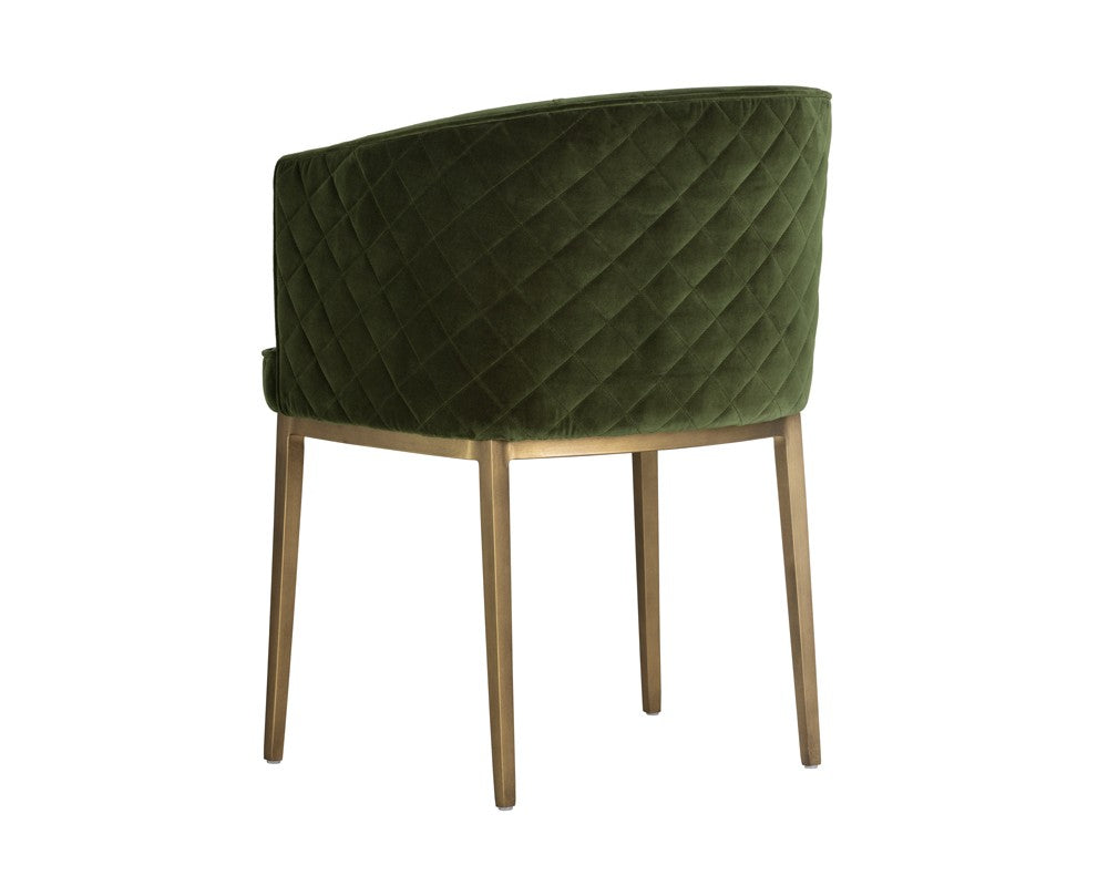 Cornella Dining Chair - Forest Green