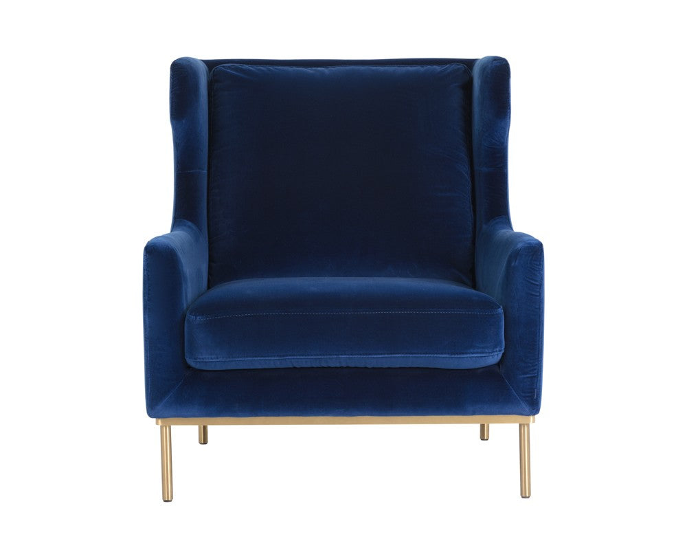 Virgil Chair Velvet Navy