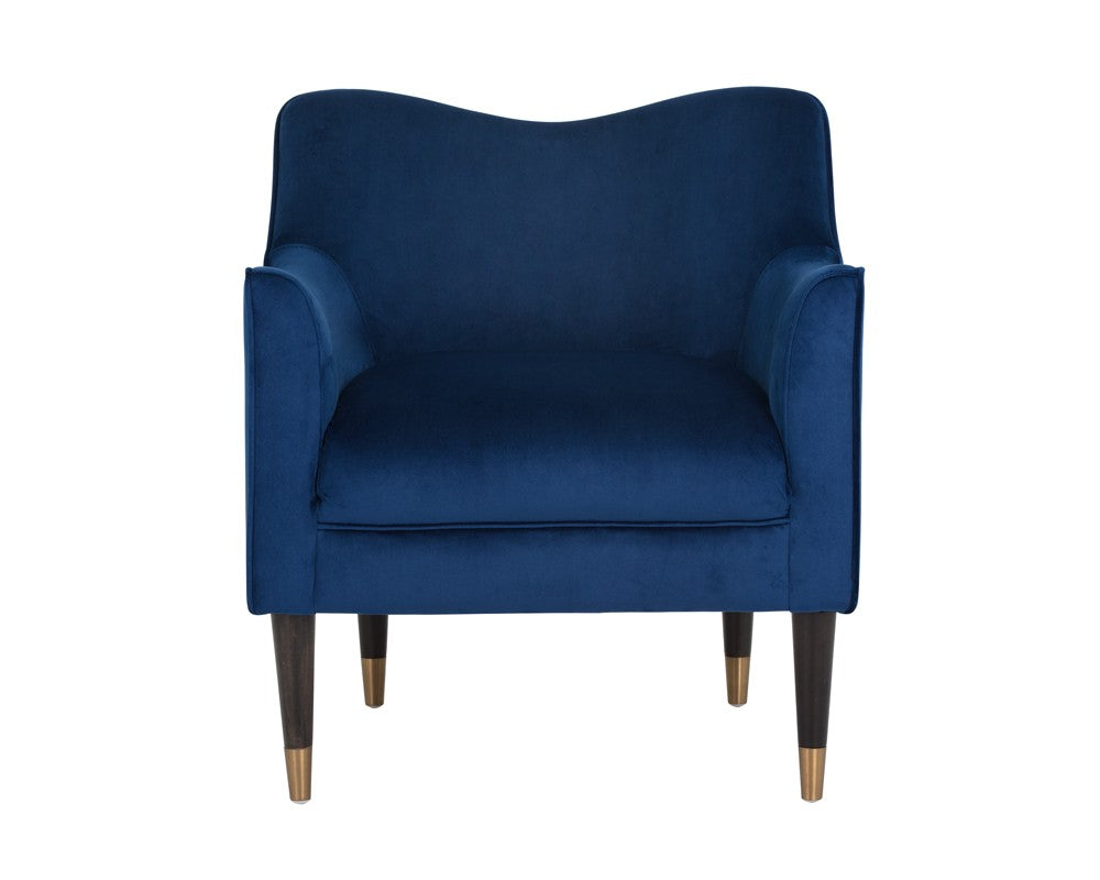 Bow Armchair - Navy Blue