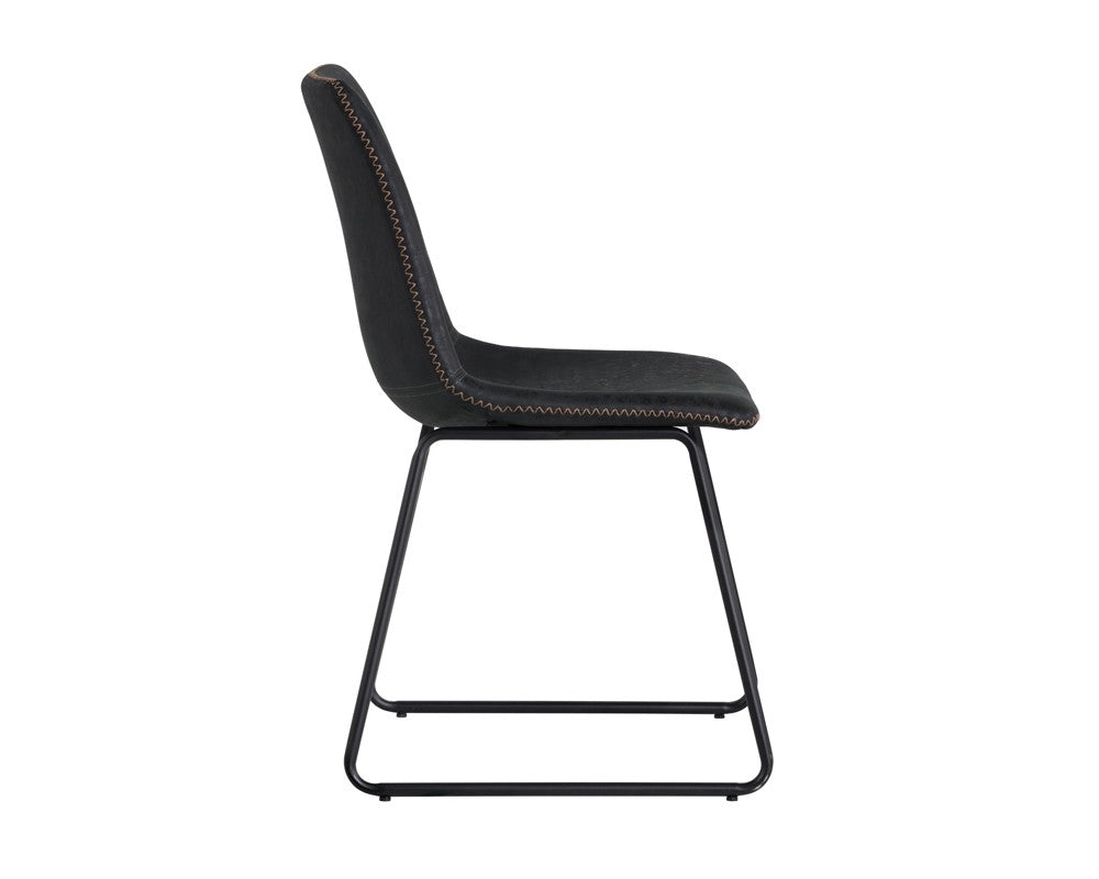 Cal Dining Chair - Antique Black