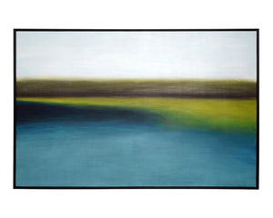 "Wetlands - 72"" X 48"" - Black Floater Frame"