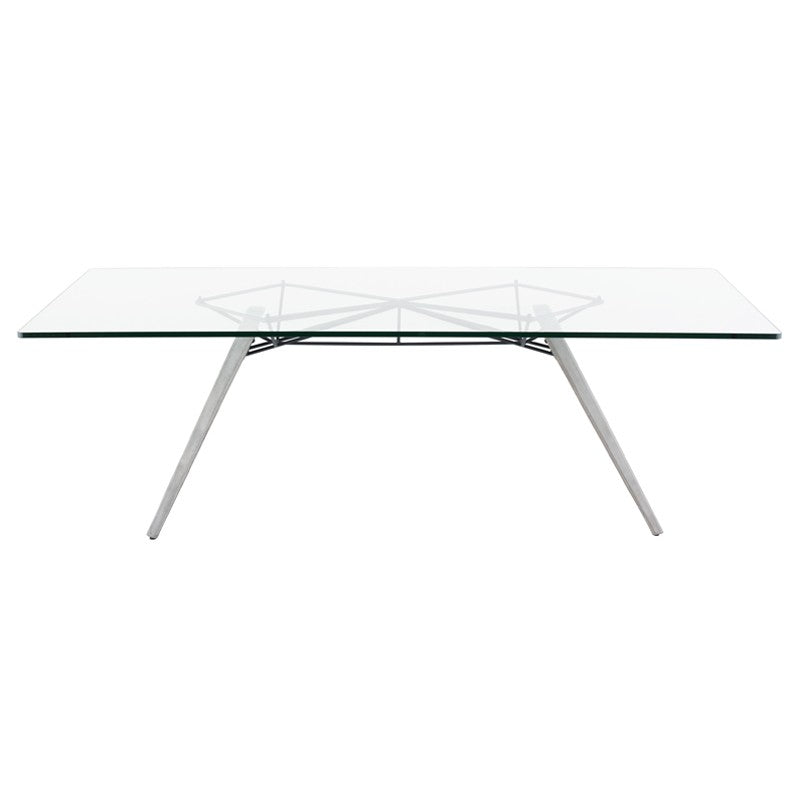 Kahn Dining Table - Clear