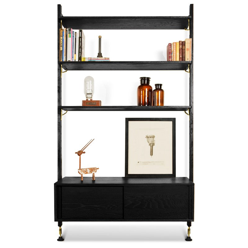 Theo Wall Unit With Drawer - Black