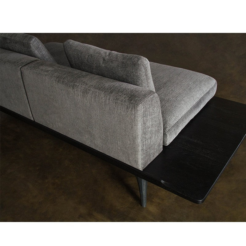 Salk Sofa-Graphite | Black Concrete Legs