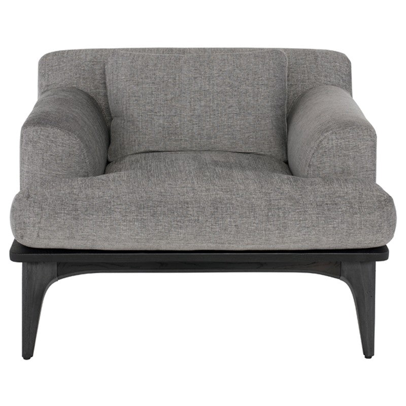 Salk Occasional Chair - Graphite |  Black Concrete Legs