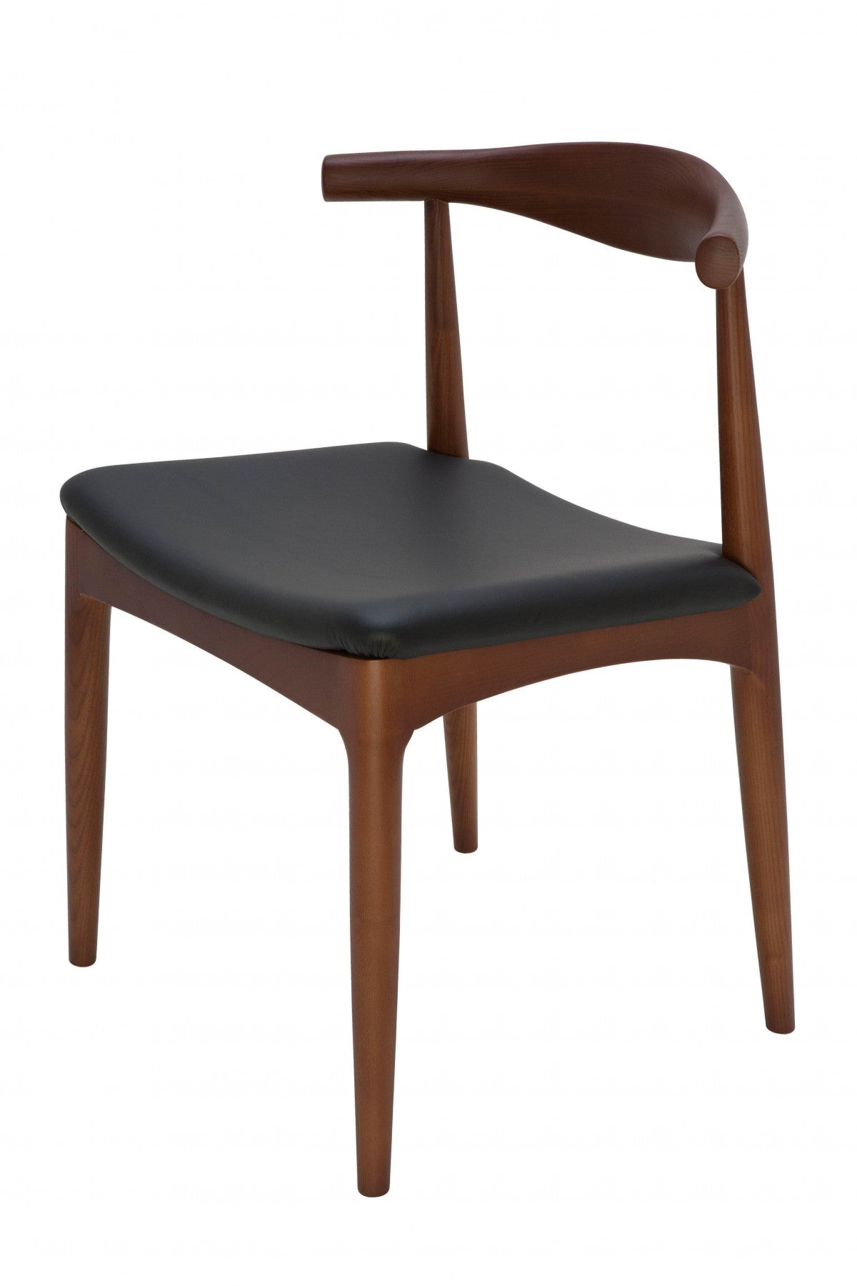 Saal Dining Chair - Walnut Black