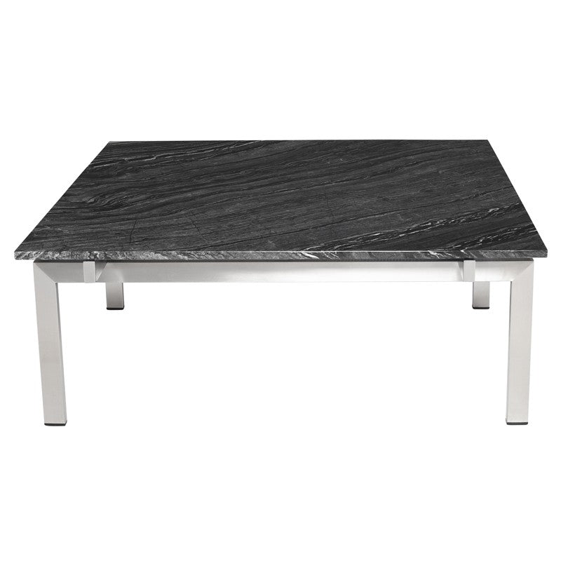 Louve Coffee Table - Black Wood Vein