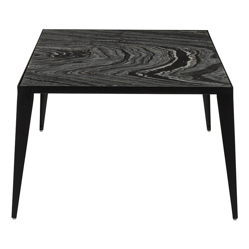 Mink Coffee Table - Black Wood Vein