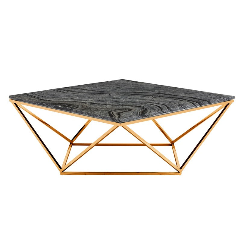 Jasmine Coffee Table - Black Wood Vein