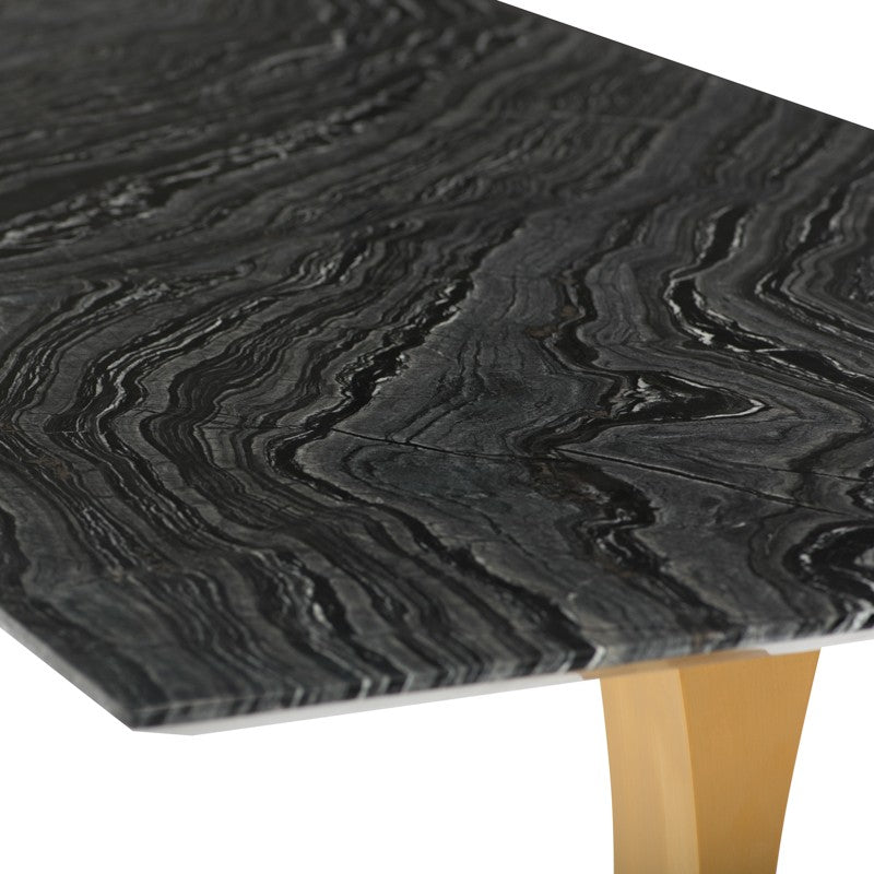 Toulouse Dining Table - Black Wood Vein