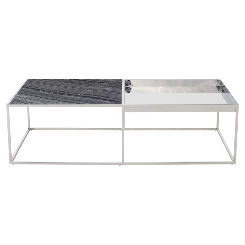 Corbett Coffee Table - Black Wood Vein