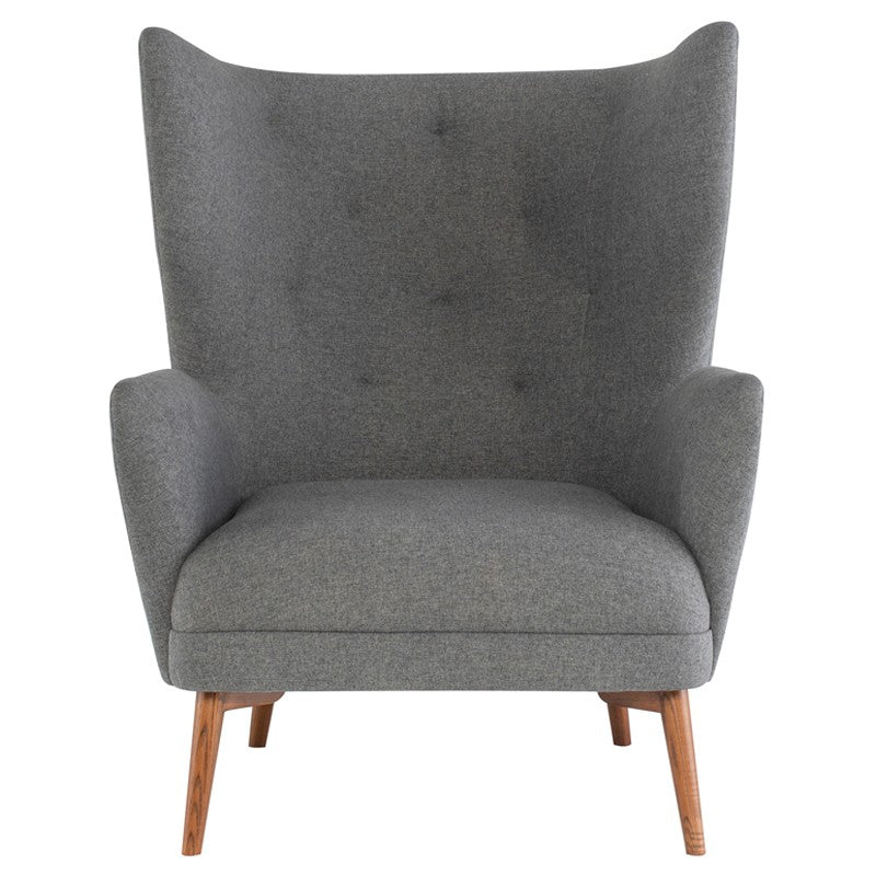 Klara Occasional Chair -Shale Grey |  Walnut Stained Ash Legs