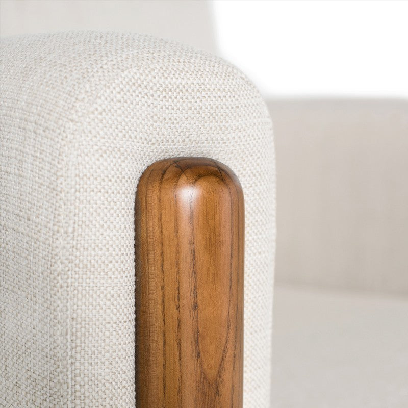 Steen Occasional Chair - Sand |  Walnut Stained Ash Legs