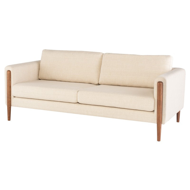 Steen Sofa-Sand | Walnut Stained Ash Legs