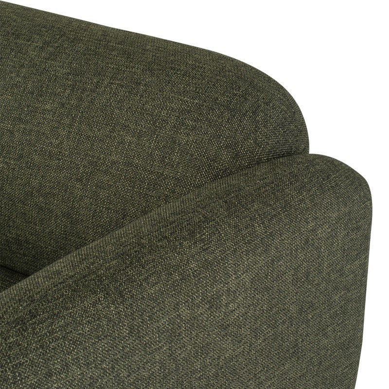 Benson Occasional Chair -Hunter Green Tweed  | Matt Black Legs