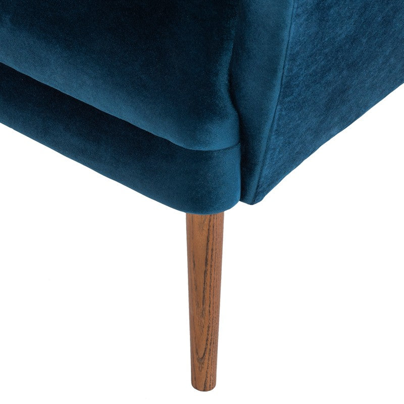 Klara Occasional Chair -Midnight Blue | Ash Stained Walnut Legs
